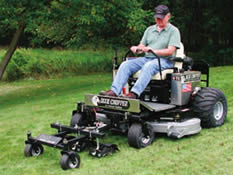 riding mower with unnecessary addons
