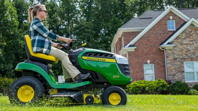The John Deere D125 Lawn Mower Comes With A High Back Seat That Keeps Rider Comfortable While In Use This Tractor Is One Of Leaders Its Category
