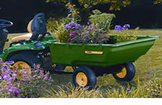 The John Deere utility cart is a must-have attachment