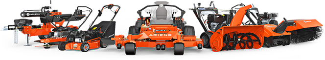 The Ariens lawn mower product range