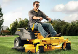 Cub Cadet RZT 34 small zero turn mower in action