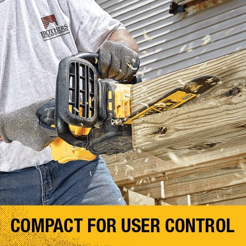 Dewalt battery operated chainsaw is compact