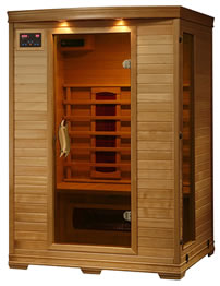 2 person hemlock deluxe sauna