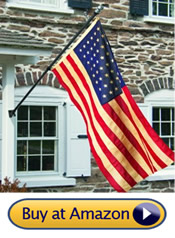 6 foot black wall flagpole - best residential flag pole
