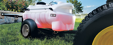 Agri-fab – pull behind sprayer for lawn tractor