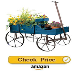 Amish blue wagon - Decorative Wagons For The Yard