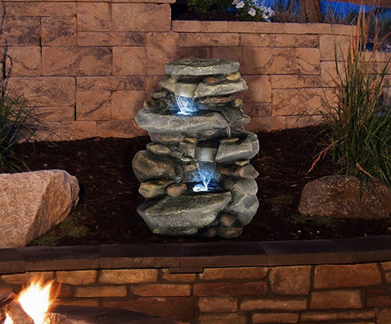 Best Outdoor Water Fountains with LED Lights