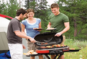 Coleman RoadTrip Grill LXE in use
