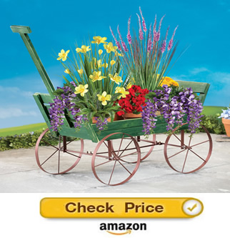 Collections Etc. garden wagon - decorative wagons for the yard