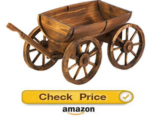 Decorative Apple Barrel Planter Wagon – decorative wagons for the yard