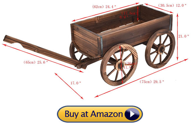 Giantex wagon dimensions - Decorative Wagons For The Yard