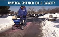 Global Industrial spreader - best walk behind salt spreader