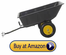 Polar LG7 dump cart - pull behind lawn mower trailer