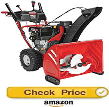 Troy-Bilt 3-stage Vortex - highest rated snow blowers