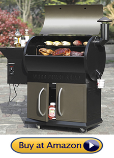 Z Grills Wood Pellet Grill and Smoker with extra storage