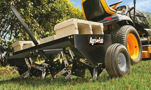 agri-fab 48 inch - pull behind core aerator