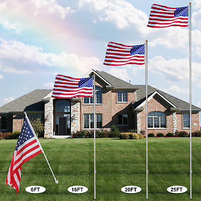 best residential flag pole. Comparison of sizes