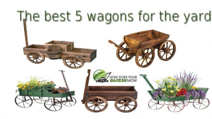 decorative wagons for the yard