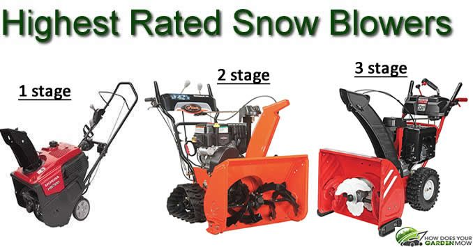 highest rated snow blowers