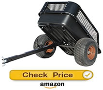 impact elements dump cart - pull behind lawn mower trailer