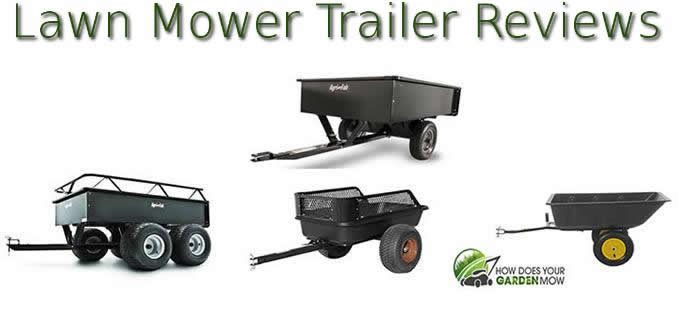 pull behind lawn mower trailer