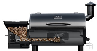 z grills wood pellet smoker feed system