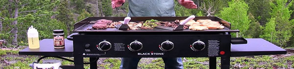 36 inch blackstone griddle in use