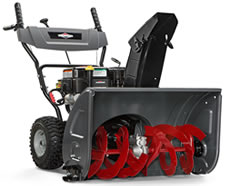 A two-stage snow blower