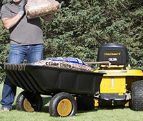 Polar wagon 600 lb- pull behind wagon for lawn mower