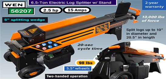 WEN 56207 electric – best log splitter for the money