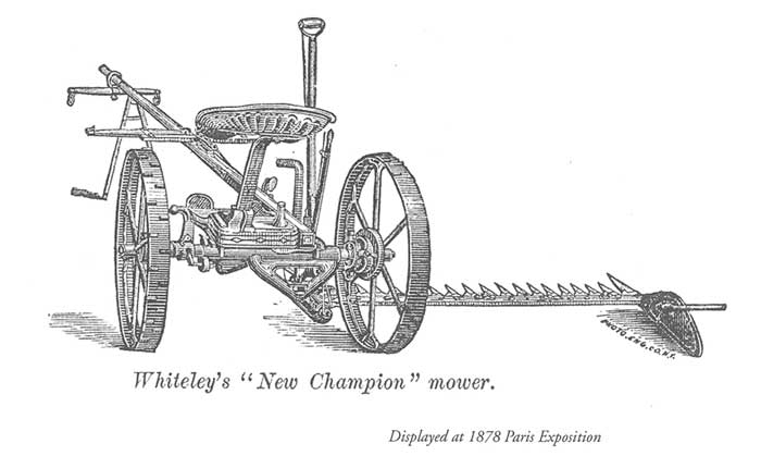 champion horse drawn lawn mower from 1878