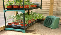 greenhouse heater in action