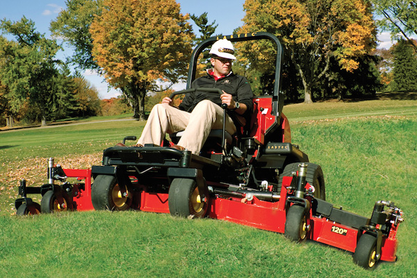 modern zero turn lawn mower with attachments