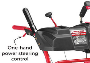 one hand steering - snow blower buyers guide