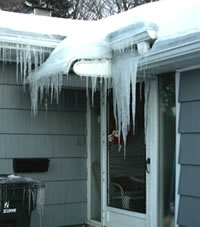 typical ice dam