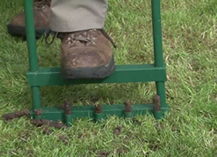 using manual aerator - how to aerate lawn by hand