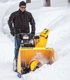 Cub Cadet 3X snow blower in action