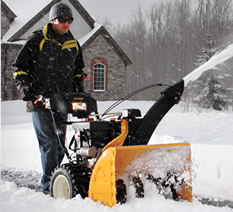 Cub Cadet snowblower in action
